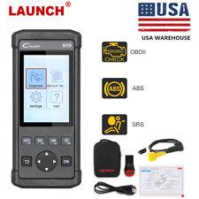 LAUNCH 619 OBD2 Scanner Erase ABS SRS Airbag Crash Data  Engine Diagnostic Tool