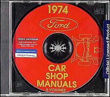 1974 Mercury Shop Manual CD Cougar Montego Monterey Marquis Comet Meteor Bobcat