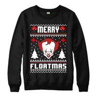 Merry Floatmas Pennywise Inspired Funny Ugly Christmas Jumper Sweatshirt