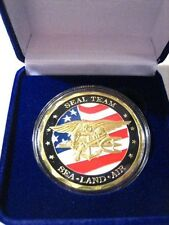 US NAVY SEALS Challenge Coin w/ Presentation Box
