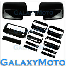 04-08 Ford F150 All Black Mirror+4 Door Handle+keypad+keyhole+Tailgate Cover kit