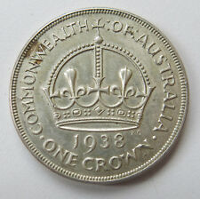 Rare Australian 1938 KGVI Casey's Cartwheel Crown Sterling Silver Coin