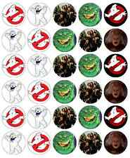 30 x Ghost Busters Edible Cupcake Toppers Wafer Paper Fairy Cake Topper