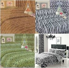 ANIMAL PRINTED DUVET COVER SET ZEBRA TIGER LEOPARD  MANY SIZES OR CUSHION COVER