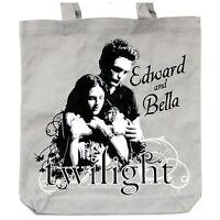 Twilight EDWARD + BELLA HERO Tasche Shopping Bag GREY CANVAS Einkaufstasche