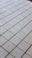 Sample White Quartz Mirror fleck Mosaic Tiles