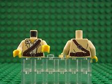 2 Lego Nuevo Mini Figura Torso Bandolera balas Arma Camisa Western patrón