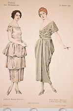 Mode féminine 1920, 2 robes, journal des demoiselles, élégances parisiennes
