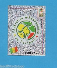 KOREA/JAPAN 2002-PANINI-Figurina n.44- SCUDETTO/BADGE - SENEGAL -NEW BLACK BACK
