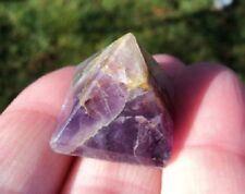 Set of 3 Amethyst Crystal Natural Stone Pyramid 20 mm Reiki Chakra Healing