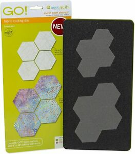 """AccuQuilt ENGLISH PAPER PIECING-1"""" HEXAGON FINISHED SIDES-55088 - RA1 - FREE P&P"""