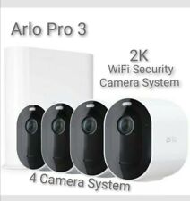 ARLO Pro 3 - 2K WiFi Smart Security Camera System - with 4 Cameras.