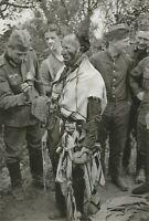 WW II   German   Photo  **   Jewish Man With German Soldiers.. **