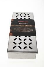 Wood Chip Räucher Box V-FORM aus Edelstahl mit Klappdeckel und Schanier