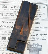 "number: 4 wood type 7.09"" woodtype font letterpress printing block print printer"
