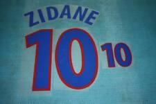 UEFA EUROPEAN CHAMPIONSHIP 2000 France #10 ZIDANE Awaykit Name Set Printing