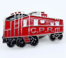 CPR Train Lapel Pin Red Canadian Pacific Railway Collectible