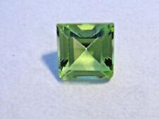Peridot Princess Cut 5 mm x 5 mm Gemstone 0.75 Carats Natural Gem
