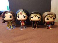 Funko Pop DC Universe Wonder Woman Lot - #175 #229 #259 #331 Exclusive OOB LOOSE