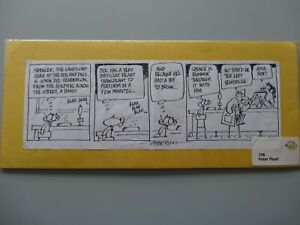 Original Signed Cartoon/Drawing Bogart the Cat Medical Theme - Peter Plant