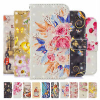For Samsung A21S A31 A41 A51 A71 Flip 3D Patterned Leather Card Wallet Case Skin
