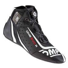OMP One Evo Formula R FIA Approved Race Boots Black / White - UK 5.5 / Eur 39