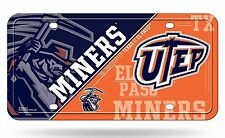 UTEP Miners NSD 260903 Aluminum License Plate Tag University of Texas El Paso