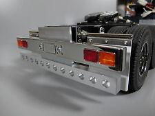 Aluminum Rear T-Bar Bumper Bar with LED holes Tamiya RC 1/14 King Hauler Semi