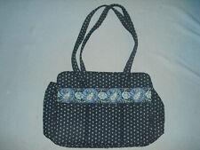 Vera Bradley Diaper bag / large tote / travel bag dark navy blue paisley border