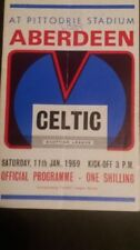 Away Teams C-E Celtic Written - on Football Programmes