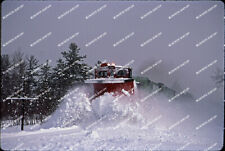 ORIG SLIDES New Brunswick Southern GP9 3757 plow extra w/snow flying Two ori