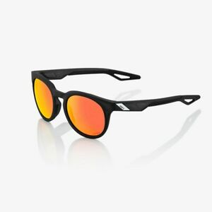 100% Active Performance Sunglasses Campo Matte Crystal Black HiPER Red Mirror Le