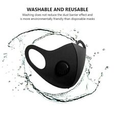NEW Face Mask Protective Covering Washable Reusable Black Adult Unisex