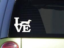 "Dachshund Love 6"" STICKER *F159* DECAL weiner dog bed chew toy dogfood treats"