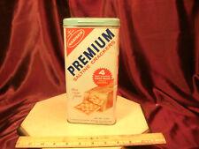 Vtg 1969 Nabisco Premium Saltine Crackers Kitchen Tin Canister-Bilingual-FreShip