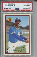 1989 Bowman Baseball #220 Ken Griffey Jr Rookie Card RC Graded PSA Gem Mint 10