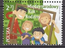 POLAND 2014 **MNH SC#  International Year of Families