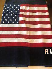 Polo Ralph Lauren American Flag RL-67 Beach Towel 35x66 Nwt USA