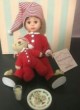 """New ListingHtf! Madame Alexander 8"""" Waiting Up For Santa Boy 37090 Retired Limited Edition"""