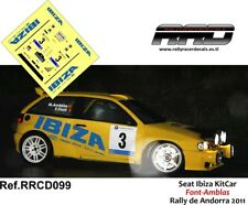 DECAL/CALCA 1/43; Seat Ibiza KitCar; Font-Amblas; Rally de Andorra 2011