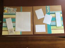 """Today Was A Wonderful Day (CTMH) Embellished 2-page 12"""" X 12"""" Scrapbook Layout"""