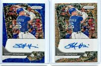 2020 PANINI PRIZM SCOTT HEINEMAN AUTO RC LOT (BLUE AND BRONZE DONUT CIRCLES)