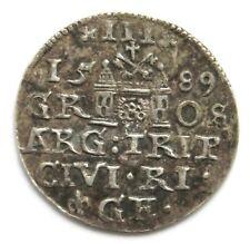 3 Gröscher 1589 Riga, Polen, Sigismund III. (1587-1621)