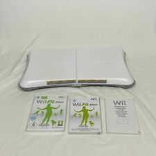 Nintendo Wii Fit Balance Board White Wii Fit Plus Game Bundle Lot Family Fun