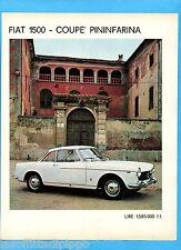 QUATTROR964-PUBBLICITA'/ADVERTISING-1964- FIAT 1500 COUPE' PININFARINA