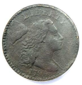 1794 Liberty Cap Large Cent 1C Coin S-43 - ANACS VF20 Details - Rare Coin!