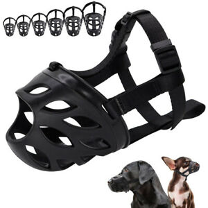 Soft Silicone Pet Adjustable Dog Muzzle Breathable Basket Anti-Biting Face Cover