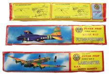 6 ASST LARGE FLYING 12 IN WORLD WAR II BOMBER GLIDER PLANE W MOVING PROPELLERS