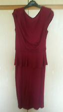 BHS MULTI MULBERRY PEPLUM  DRESS SIZE 14