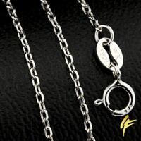 Edle Marken-Halskette 925 Sterlingsilber Schmuck verstellbar 40-45cm poliert